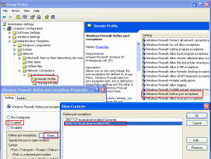Group Policy Firewall Configuration for UltraVNC