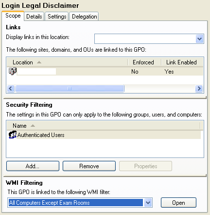 wmi fixed port group policy